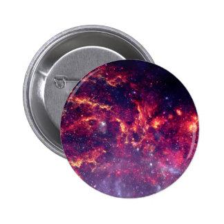 Campo de estrella en espacio profundo pin redondo de 2 pulgadas