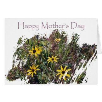 Campo de flor feliz del día de madre para la mamá tarjeta de felicitación