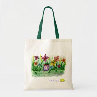 Campo de flor poco bolso de la uva de Llost Bolsa Tela Barata