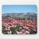 Campo de flor rosado Mousepad Tapete De Ratones