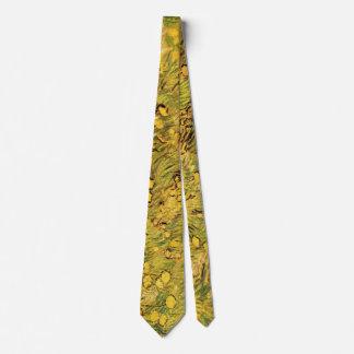 Campo de flores amarillas, bella arte de Van Gogh Corbatas Personalizadas