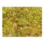 Campo de flores amarillas de Vincent van Gogh Tarjetas Postales