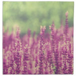 Campo de flores rosado púrpura servilleta imprimida