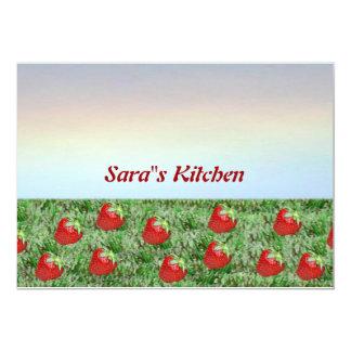 Campo de fresas invitaciones personales