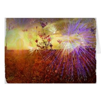 Campo de fuegos artificiales - tarjeta de felicita
