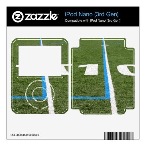 Campo de fútbol diez calcomanía para el iPod nano