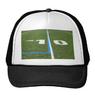 Campo de fútbol diez gorras de camionero