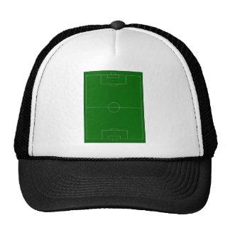 campo de fútbol gorros bordados