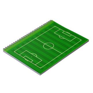 Campo de fútbol libros de apuntes con espiral