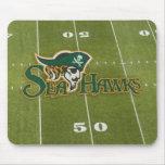 Campo de fútbol Mousepad de Seahawk Tapetes De Raton