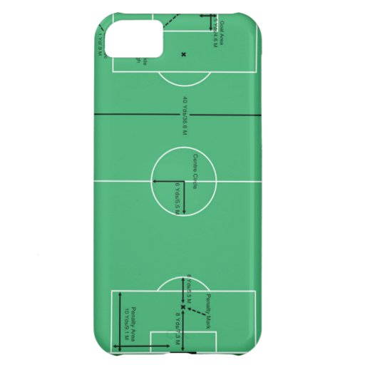 Campo de fútbol para los fanáticos del fútbol funda para iPhone 5C