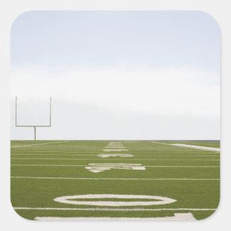 Campo de fútbol pegatina cuadradas personalizadas