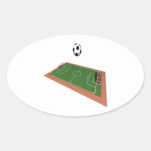 Campo de fútbol pegatina ovaladas personalizadas