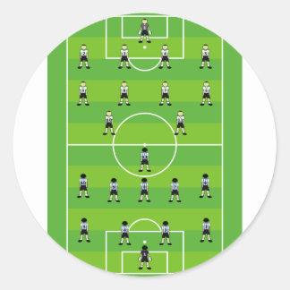 Campo de fútbol pegatina redonda
