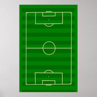 Campo de fútbol póster