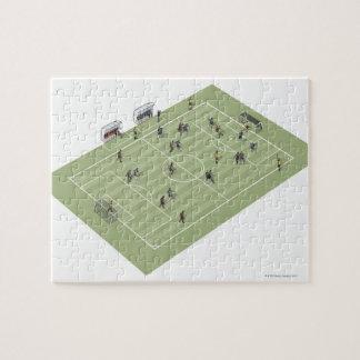 Campo de fútbol rompecabeza