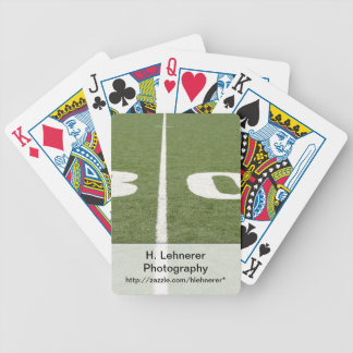 Campo de fútbol treinta barajas de cartas