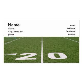 Campo de fútbol veinte tarjeta de visita