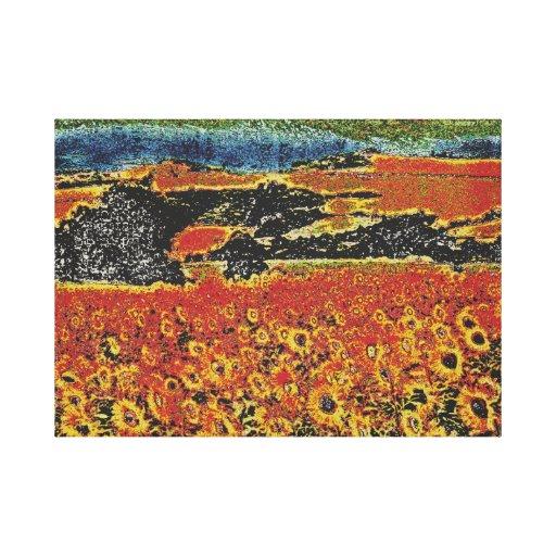 campo de girasoles impresiones de lienzo