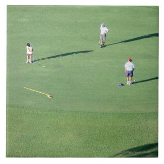 Campo de golf azulejo cuadrado grande