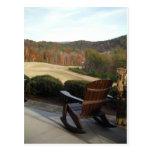 Campo de golf de desatención de la silla de cubier tarjetas postales