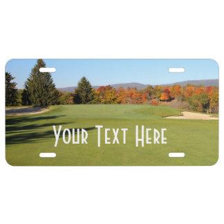 Campo de golf de la caída - personalizar placa de matrícula
