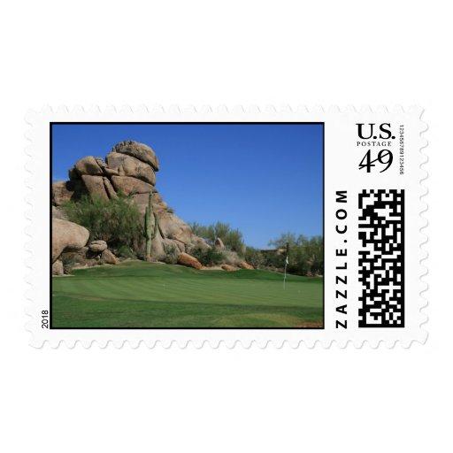 Campo de golf de los cantos rodados sello