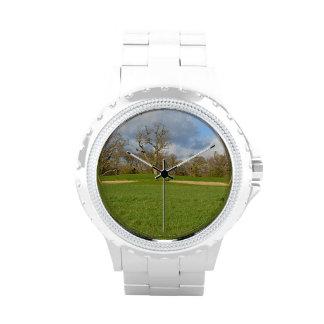 Campo de golf de los vínculos reloj