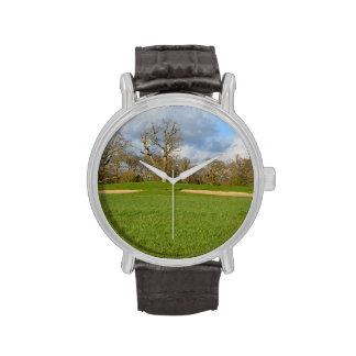 Campo de golf de los vínculos relojes de pulsera
