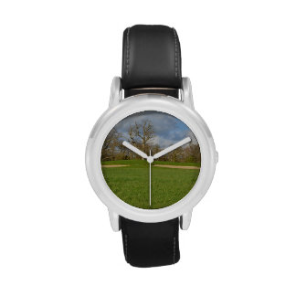 Campo de golf de los vínculos relojes