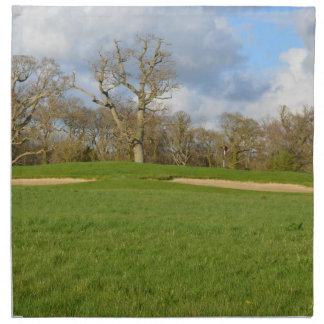 Campo de golf de los vínculos servilletas imprimidas