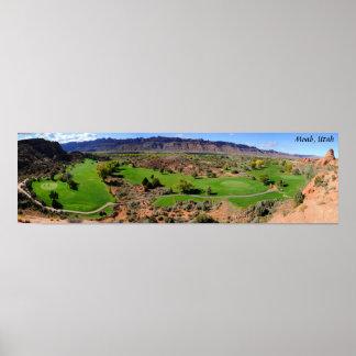 Campo de golf de Moab - Utah Póster