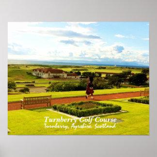 Campo de golf de Turnberry, poster de Escocia