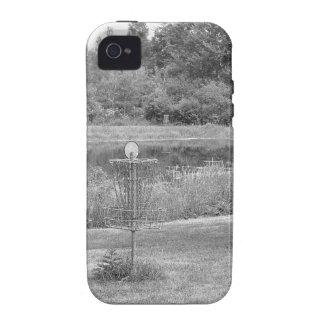 Campo de golf del disco de los pinos de Wessel iPhone 4 Carcasas