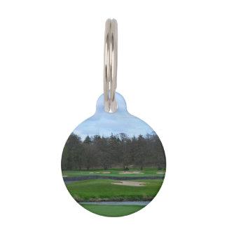 Campo de golf desafiador placas de mascota