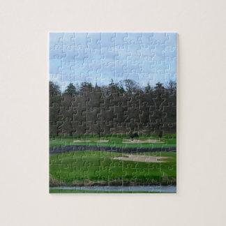 Campo de golf desafiador rompecabeza con fotos