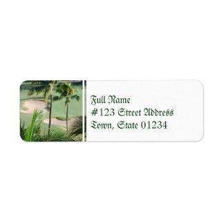 Campo de golf en etiquetas de correo de las zonas  etiqueta de remite