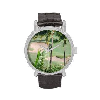 Campo de golf en las zonas tropicales reloj