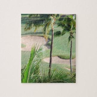 Campo de golf en rompecabezas de las zonas tropica