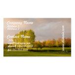 Campo de golf en tarjeta de visita de Autum