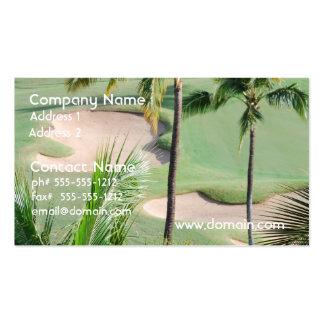 Campo de golf en tarjetas de visita de las zonas t
