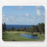 Campo de golf hermoso de Hawaii Alfombrillas De Raton
