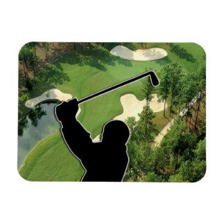 Campo de golf imán rectangular