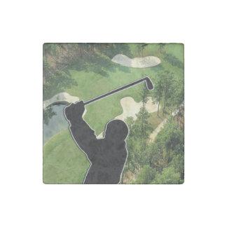 Campo de golf imán de piedra