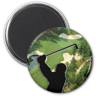 Campo de golf imán redondo 5 cm