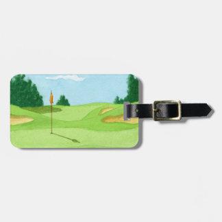Campo de golf personalizado Geen Etiquetas Para Equipaje