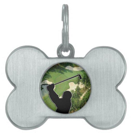 Campo de golf placas de nombre de mascota