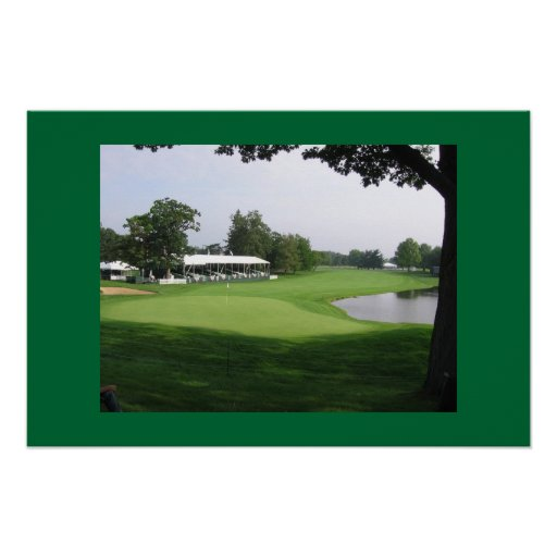campo de golf póster