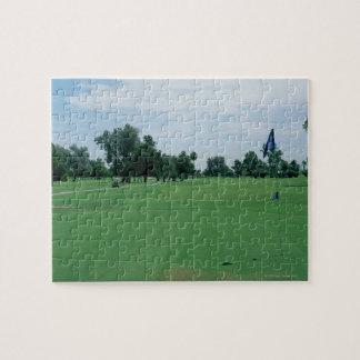 Campo de golf rompecabeza con fotos