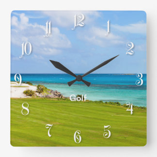 Campo de golf reloj cuadrado